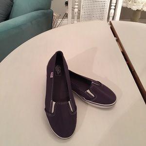 VANS purple slip on shoes. Size 7